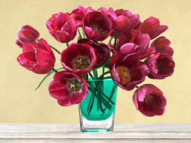 Andrea Antinori - Red Tulips in a Glass Vase