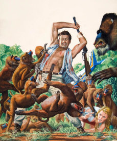 Mort Kunstler - I Was Captured by a Mandrill Army