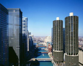 Carol Highsmith - Marina city overlook Chicago Illinois