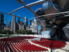 Carol Highsmith - Jay Pritzker Pavillion by Frank Gehry in Grant Park Chicago Illinois