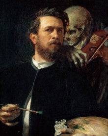 Arnold Bocklin - Self-portrait with Death playing the fiddle, 1872