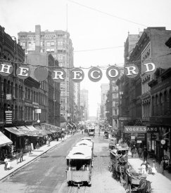 Vintage Chicago - Madison Street east from Fifth Ave Chicago Illinois