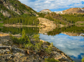 Tim Fitzharris - Dana Plateau from Ellery Lake, Sierra Nevada, Inyo National Forest, California