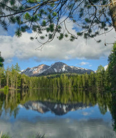 Tim Fitzharris - Eagle Peak from Mirror Lake, Cascade Range, Lassen Volcanic National Park, California