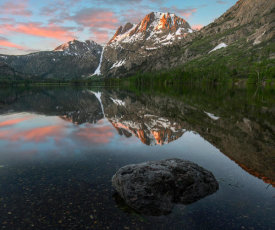 Tim Fitzharris - Peak from Silver Lake, Sierra Nevada, California