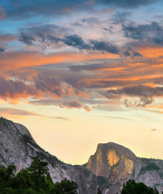 Tim Fitzharris - Sunrise over Half Dome, Yosemite Valley, Yosemite National Park, California