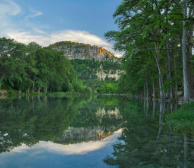Tim Fitzharris - Bald Cypress trees along river, Frio River, Old Baldy Mountain, Garner State Park, Texas