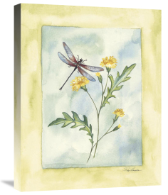 Paige Houghton - Dragonfly With Yellow Flowers