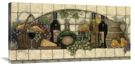 Janet Kruskamp - Wine, Fruit, 'N Cheese Pantry