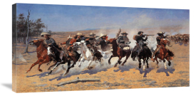Frederic Remington - A Dash For Timber