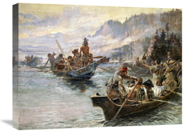 Charles M. Russell - Lewis and Clark on the Lower Columbia