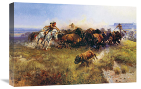 Charles M. Russell - The Buffalo Hunt