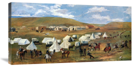 Charles M. Russell - Cowboy Camp During The Roundup