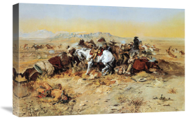 Charles M. Russell - A Desperate Stand