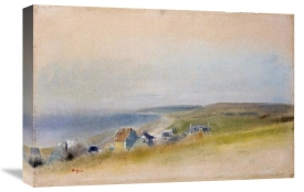 Edgar Degas - Houses On The Cliff Edge at Villers-Sur-Mer