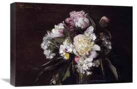Henri Fantin-Latour - Peonies, White Carnations and Roses