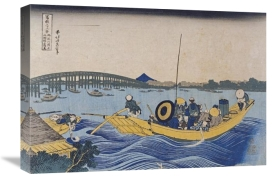 Hokusai - View of The Evening Glow at Ryogoku Bridge