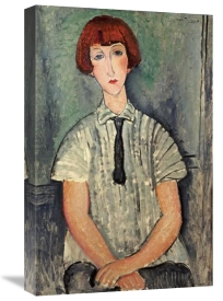 Amedeo Modigliani - Young Girl In a Striped Shirt