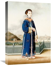 Chinese School - An Elegantly Dressed Chinese Hong Merchant's Wife