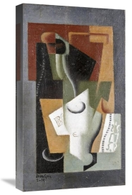 Juan Gris - Glass and Bottle