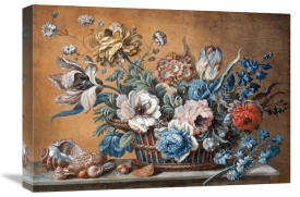 Peter Mazell - A Basket of Carnations