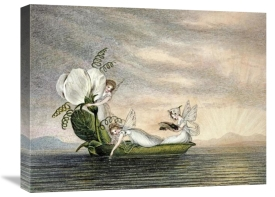 Amelia Jane Murray - Fairies Floating Downstream In a Peapod