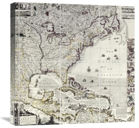 Henry Popple - A Map of The British Empire In America