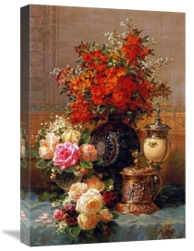 Jean-Baptiste Robie - Still Life of Roses and Other Flowers