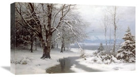 Anders Anderson-Lundby - A Wooded Winter Landscape