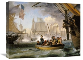 Thomas Birch - Commodore Perry Leaving The Lawrence