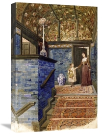 T. Hamilton Crawford - Staircase Hall With William De Morgan Tiles