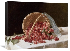 John F. Francis - A Basket of Cherries, 1853