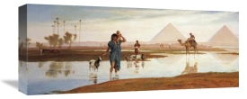 Frederick Goodall - Overflow of The Nile, With The Pyramids