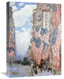 Frederick Childe Hassam - The Fourth of July, 1916 (The Greatest Display of the American Flag Ever Seen in New York, Climax of the Preparedness Parade in May)