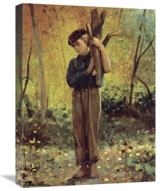 Winslow Homer - Boy Holding Logs
