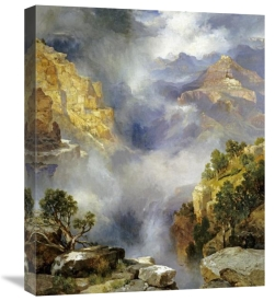 Thomas Moran - Mist In The Canyon