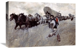 Howard Pyle - The Connecticut Settlers Entering The Western Reserve