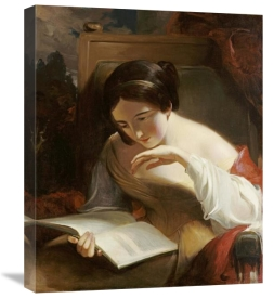 Thomas Sully - Portrait of a Girl Reading