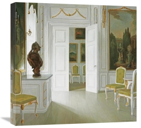 Christian Tilemann-Petersen - An Interior of a Salon - Fredensborg