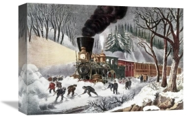 Currier and Ives - American Railroad Scene