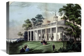 Currier and Ives - Home of Washington