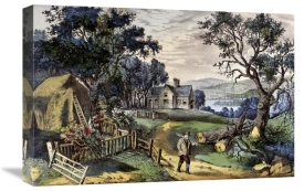 Currier and Ives - My Boyhood's Home
