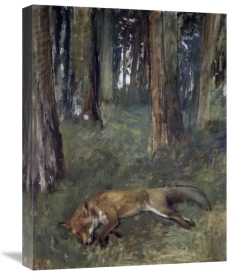 Edgar Degas - Dead Fox Under the Trees