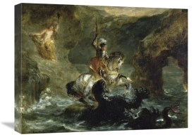 Eugene Delacroix - St. George Fighting the Dragon