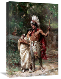 Jean Leon Gerome Ferris - Hiawatha's Wedding Journey (Longfellow)