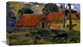 Paul Gauguin - Dog Canine in front of the Hut (Le Chien Devant la Hutte)