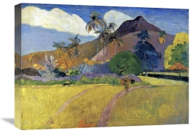 Paul Gauguin - Tahitian Landscape with a Mountain