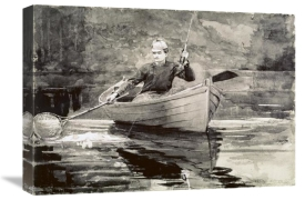 Winslow Homer - Fly Fishing, Saranac