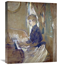 Henri Toulouse-Lautrec - At the Piano, Madame Juliette Pascal in the Salon of the Malrome Palace
