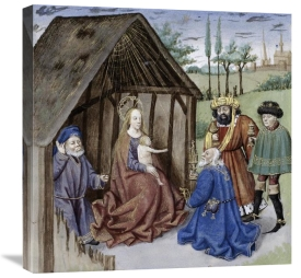 Ludolf of Saxony - Nativity With Three Kings